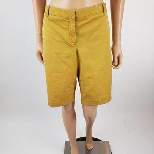 J Crew Mustard Yellow Bermuda Shorts 12/14